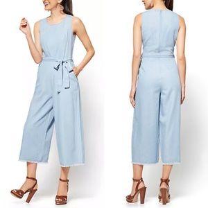 NY & Co • Ultra Soft Chambray Jumpsuit • size XS